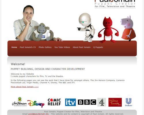 Paul Jomain Puppet Designer, Hertfordshire